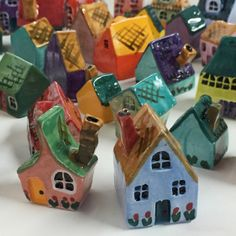 More Wee Littles! Architectural Sculpture, Little My, Little Houses, Mythical Creatures, Art For Kids, Cube, Diy Crafts, Ceramics, Studio