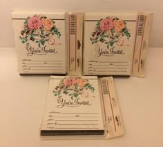 Invitation Cards 3 Packs Of 25 With Envelopes Paper Art You're Invited NOS  | eBay
