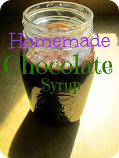 THE REHOMESTEADERS: Homemade Chocolate Syrup