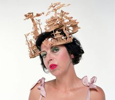 45357c3095a Isabella Blow wearing Phillip Tracy for Alexander McQueen. Anna Wintour