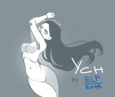 [close] YCH Auction: with weapon by elfexar