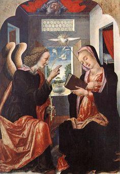 Bartolomeo Vivarini - Annunciazione (Chiesa di Maria Santissima Annunziata, Modugno).- L'Annunciazione è una pala d'altare tempera su tavola, dipinta da Bartolomeo Vivarini, databile al 1472 e conservata nella chiesa di Maria santissima Annunziata di Modugno