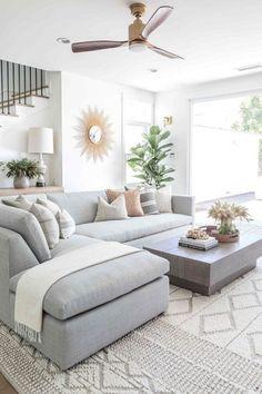 New Living Room, Interior Design Living Room, Home And Living, Living Room Furniture, Living Room Designs, Small Living, Barn Living, Living Room With Sectional, Living Room Ideas