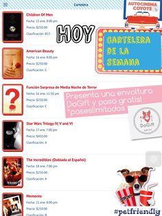 Lánzate al @autocinemac y entra Gratis! Presentando 1 envoltura @dogiftmx #carteleracoyote HOY #childrenofmen