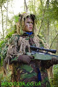 Family Fun Day out learning to be a Sniper at Woodoak Wilderness, Surrey, England UK www.woodoak.co.uk
