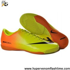 Buy Discount Nike Mercurial Vapor IX IC Orange Yellow Black Football Shoes Store
