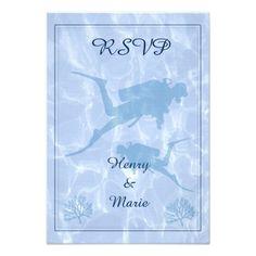 Diver RSVP Wedding Card