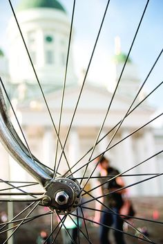 Print by Cycling in Helsinki, Finland Helsinki, Bicycles, Finland, Scandinavian, Cycling, Sweet Home, Spaces, Live, Photography