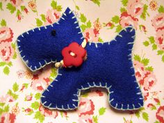 Cute Scottie dog - would be cute out of fabric instead of felt for a baby toy