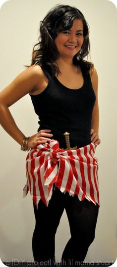 Simple Pirate Costume for Women.You can find Homemade pirate costumes and more on our website.Simple Pirate Costume for Women. Diy Pirate Costume For Women, Homemade Pirate Costumes, Female Pirate Costume, Diy Halloween Costumes For Women, Diy Costumes, Costume Ideas, Cowgirl Costume, Teen Costumes, Woman Costumes
