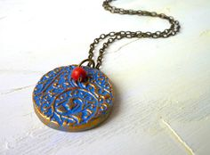 Blue Pendant  Lisa goes to Paris by Palomaria on Etsy, $28.00
