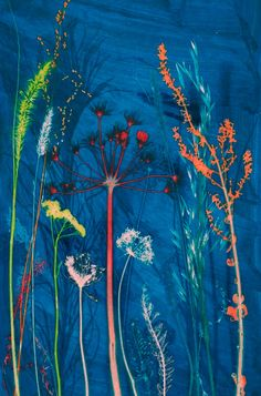 Gillian Arnold, illustrator from the U.K. A print of her textile design, via Etsy.