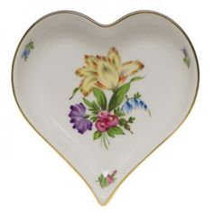 Herend Printemps Small Heart Tray
