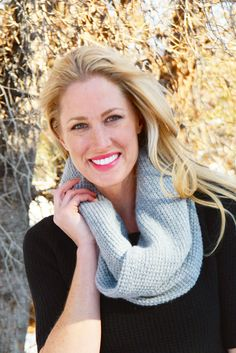"""Get cozy this winter in our cashmere scarf! This 16"""" x 14"""" waffle weave infinity scarf adds warmth and style. Snowed In Scarf 