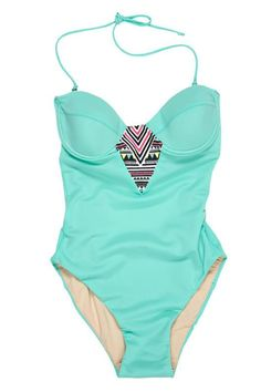 teal one piece...so cute! hopefully i'll look better during swim suit season this year! :)