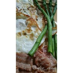2 fried eggs asparagus and leftover ham from and a cup of #ketosis #ketolife #ketodiet #ketogenic #keto #lowcarbhighfat #lchf #lowcarb #lowcarblife #lowcarbdiet #hclf #jerf #paleo #atkins #grainfree #fatloss #foodporn #foodphotography #nomnom #paleodiet #weightlossjourney #weightloss #cleaneating #wholefood #eatwell #primal #primalfood by dee_vonn