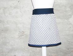 Midiröcke - Sommerrock gepunktet maritimer ROCK Punkte weiß - ein Designerstück von Handmade-Erzgebirge bei DaWanda