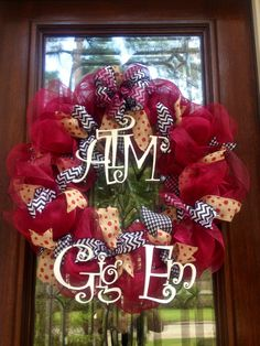 Texas A&M wreath