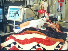 Josh Hargis, a gravely wounded Army Ranger defies belief by saluting his commanding officer from his hospital bed during his Purple Heart ceremony.