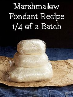 Looking for a small Marshmallow fondant recipe? Here is a 1/4 batch recipe and it is perfect to make cupcake toppers and to practice making characters.