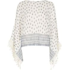 I'm shopping White paisley print top in the River Island iPhone app.