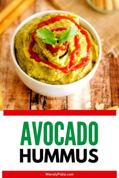 It doesn't get much better than this Spicy Avocado Hummus Recipe! It is great for an appetizer for parties or for a snack. I also love it on veggie wraps! Want to make it with no tahini? I've got instructions! Avacado Appetizers, Healthy Appetizers, Appetizers For Party, Healthy Snacks, Hummus Recipe With Tahini, Healthy Hummus Recipe, Gluten Free Recipes, Vegetarian Recipes, Snack Recipes