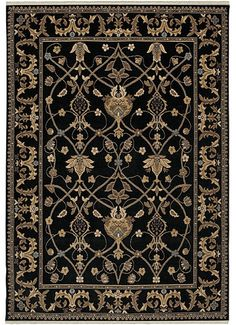 Karastan Area Rug, English Manor William Morris Black 6 x 6 - 9 x 12 Rugs - Rugs - Macy's