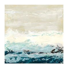 "Coastal Currents I 35"" Square Giclee Canvas Wall Art ($240) ❤ liked on Polyvore featuring home, home decor, wall art, backgrounds, art, canvas home decor, giclee wall art, coastal wall art, coastal home decor and blue wall art"