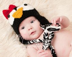 Penguin Earflap Hat/Baby Photo Prop