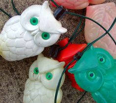 Owl party lights. These would be perfect. I wonder if I have time to hunt them down.