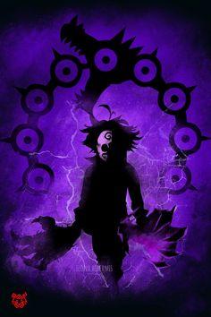 'Demon king' by Ilona Hibernis Evil Anime, Anime Angel, Seven Deadly Sins Anime, 7 Deadly Sins, Demon King Anime, Madara Wallpaper, Meliodas And Elizabeth, Seven Deady Sins, Black Clover Anime
