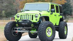 Save by Hermie Jeep Jk, Jeep Wrangler, Lifted Jeep Cherokee, Green Jeep, Cool Jeeps, Jeep Life, Offroad, Monster Trucks, Lime