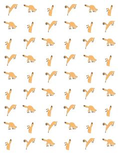printable wrapping paper. fox