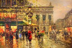 Vintage parisian street