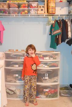 Organizing a Montessori Closet for 3-5 year olds {Montessori on a Budget}