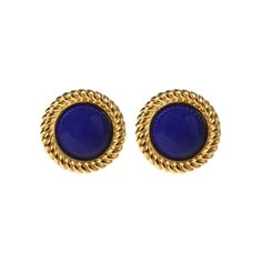Wantful - Ben-Amun - Riviera cabachon clip earrings (Blue)    CLASSIC!