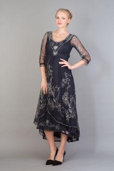 Nataya Downton Abbey Dress 40163 in Sapphire $290