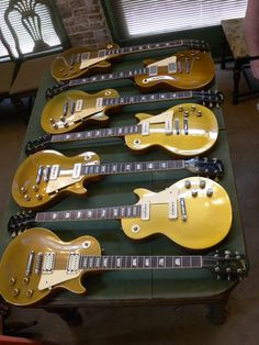 Goldtop Les Pauls. I have one, and i'm so grateful.