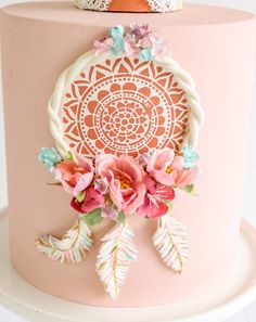 This Dream Catcher Cake Fake cake prop cake party decor is just one of the custom, handmade pieces you'll find in our backdrops & props shops. Pretty Cakes, Beautiful Cakes, Amazing Cakes, Dream Catcher Cake, Fake Cake, Cookie Designs, Creative Cakes, Cake Art, Cake Toppers