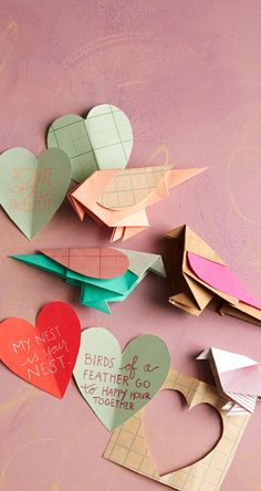 #Love is in the Air: #Origami Lovebirds on the #AnthroBlog #Anthropologie