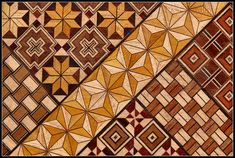 """Yoseki"", ancient Japanese wooden mosaic"