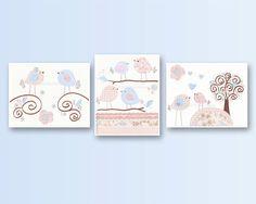 Baby Girl Nursery Girl Nursery Art Nursery Wall by DesignByMaya, $50.00