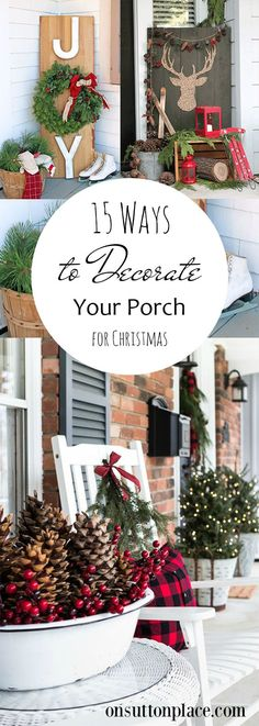 Porch Decor Porch and Patio Christmas Curb Appeal Holiday Porch Ideas Christmas Porch Decoration Popular Pin How to Decorate Your Porch Christmas Porch Outdoor Christmas, Country Christmas, Winter Christmas, All Things Christmas, Christmas Home, Christmas Vacation, Christmas Movies, Christmas 2019, How To Decorate For Christmas