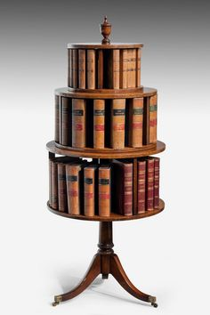 Late 19th Century Mahogany Three-Tier Revolving Book Stand