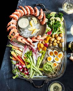There are crudités, and then there is le grand aioli, the Provençal feast of raw and steamed vegetables, hard-cooked eggs, and chilled… Frozen Appetizers, Healthy Appetizers, Appetizer Recipes, Party Appetizers, Easter Recipes, Party Recipes, Seafood Recipes, Cooking Recipes, Healthy Recipes
