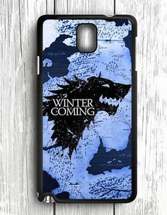Winter Coming Map Game Of Thrones Samsung Galaxy Note 3 Case