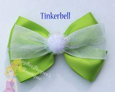 Tinkerbell de pelo arco personaje inspirado pinza de pelo de vacaciones de Disney