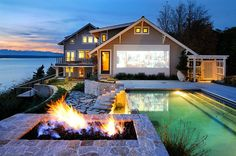 Nothing like an outdoor theater to add to the beauty of your home!
