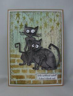 *Majo's Art* by Majo Crazy Bird, Crazy Dog, Crazy Cats, Crazy Animals, Tim Holtz Stamps, Cat Crafts, Cat Birthday, Bird Cards, Animal Cards