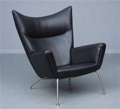 Hans J. Wegner: Lounge chair, Wing Chair, model CH-445